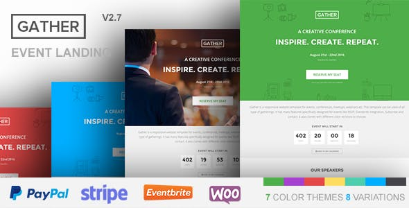 Gather v2.7 — Event & Conference WP Landing Page Theme