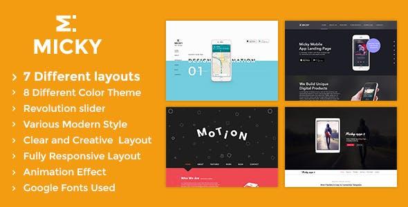 Micky v1.2 — App showcase Template