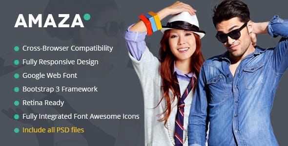 Amaza v1.0 — Fashion Store HTML Template