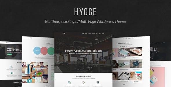Hygge v1.0.10 — Multipurpose Single/Multi Page WP Theme