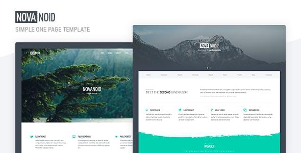 Novanoid — Simple Minimal HTML Template