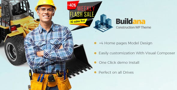 Buildana v1.3 — Construction & Building WordPress Theme
