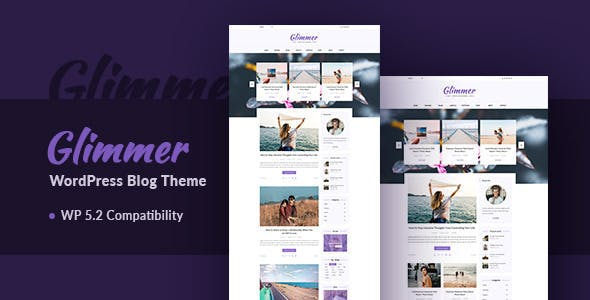 Glimmer v3.0 — A Responsive WordPress Blog Theme