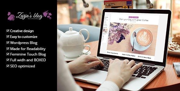 Zarja Blog v2.1 — WordPress Blog Theme