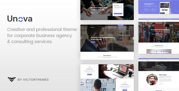 Unova v1.6 — Consulting Business WordPress Theme