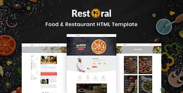 Restoral v1.0 — Food & Restaurant HTML Responsive Bootstrap 4 Template