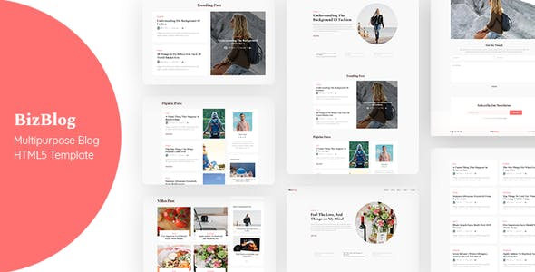 Bizblog v1.0 — Multipurpose Personal Blog HTML5 Template