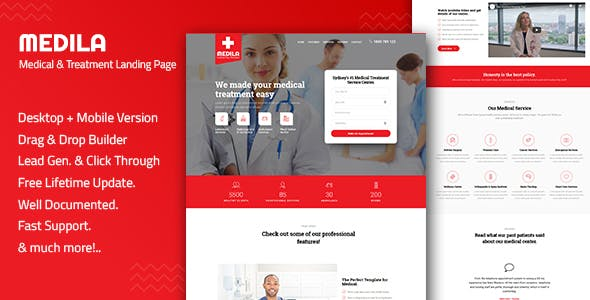 Medila v1.0 — Medical Treatment & Health Care Landing Page Template