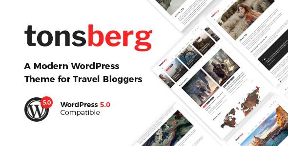 Tonsberg v1.1.1 — A Modern WordPress Theme for Travel Bloggers