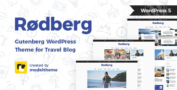 Rodberg v1.1.1 — Travel Blog WordPress Theme Gutenberg Compatible