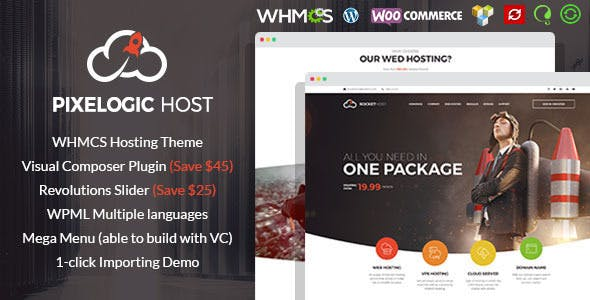 Pixelogic v2.0.0 — WHMCS Hosting, Shop & Corporate Theme