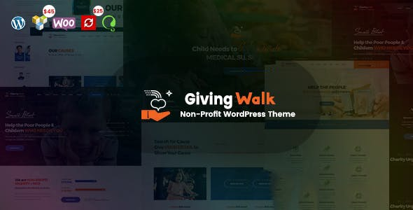 GivingWalk v1.0.1 — Multipurpose Nonprofit WordPress Theme