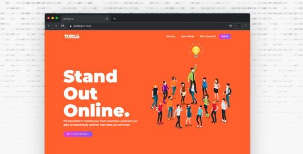 Turus v1.0 — Digital Marketing Agency One-Page HTML Templates
