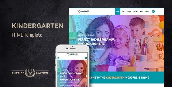 Kindergarten v1.0 — HTML template