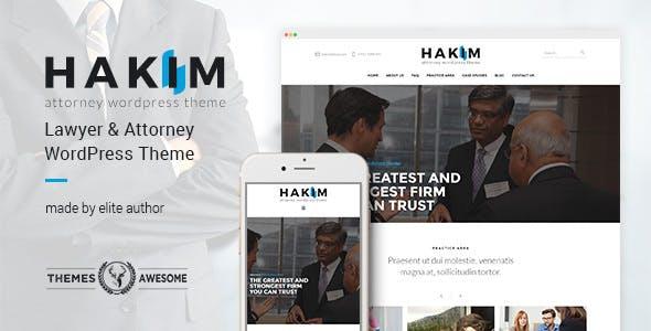 Hakim v1.3 — Attorney and Lawyer WordPress Theme