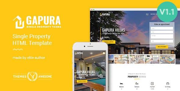 Gapura v1.1 — Single Property HTML Template