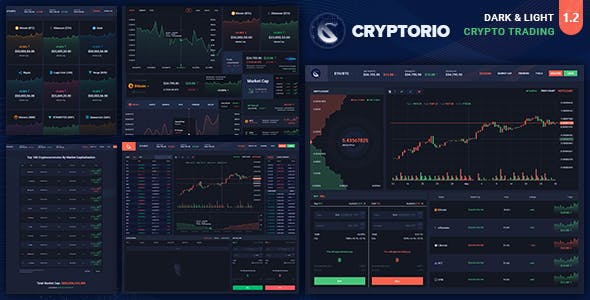 Cryptorio v1.0 — Cryptocurrency Trading Dashboard HTML Template