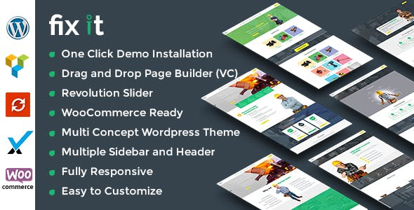 Fixit Construction v1.2.1 — Construction WordPress Theme
