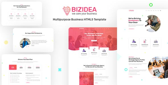 Bizidea v1.0 — Multipurpose Business HTML5 Template