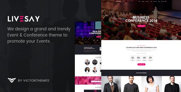 Livesay v1.7 — Event & Conference WordPress Theme
