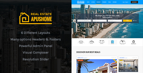ApusHome v1.7.5 — Real Estate WordPress Theme