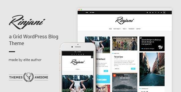 Rinjani v1.6 — A Responsive Grid Blog Theme