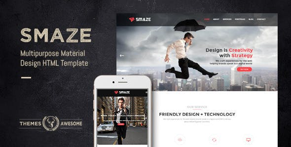 Smaze v1.0 — Multipurpose Material Design HTML Template