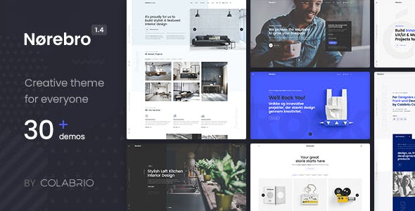 Norebro v1.4.4 — Creative Multipurpose WordPress Theme