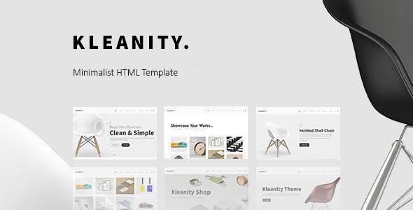 Kleanity v1.0 — Minimalist HTML Template / Creative Portfolio