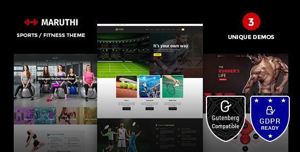 Maruthi Fitness v1.5 — Fitness Center WordPress Theme