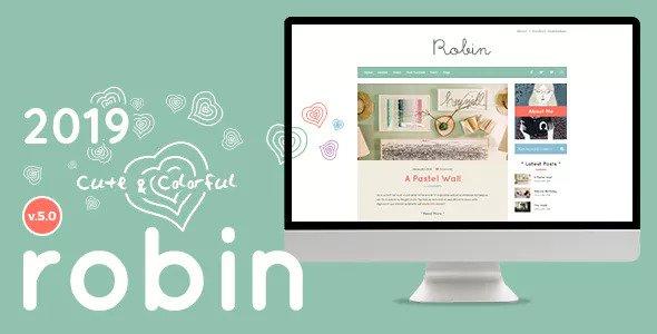 Robin v5.3.2 — Cute & Colorful Blog Theme