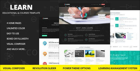 Learn v1.0.9.1 — Education, eLearning WordPress Theme