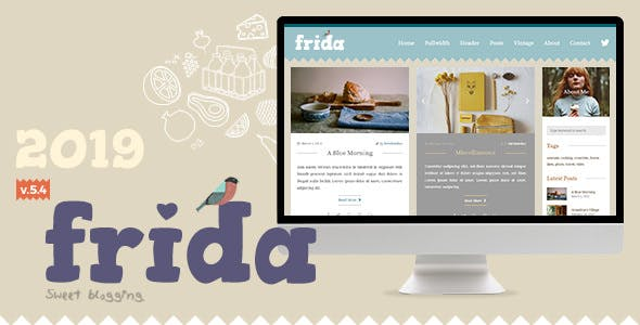Frida v5.4.2 — A Sweet & Classic Blog Theme