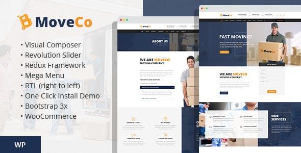 MoveCo v1.4 — Logistics, Moving Company WordPress Theme