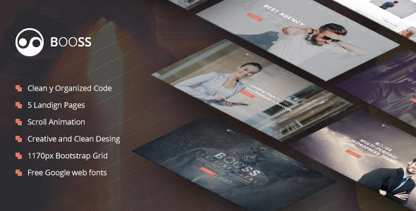Booss v1.0 — Creative Multipurpose Marketing Landing Page