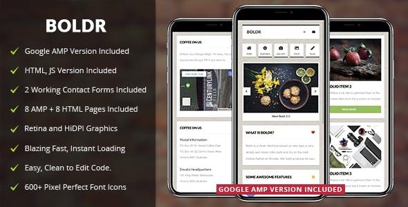 Boldr Mobile v2.0 — Mobile Template