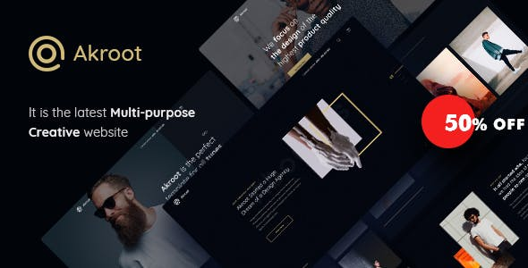 Akroot v1.0 — It is the Multi-purpose Creative HTML5 Template