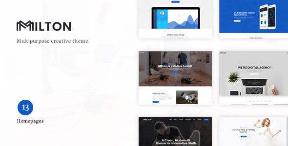 Milton v1.2 — Multipurpose Creative WordPress Theme