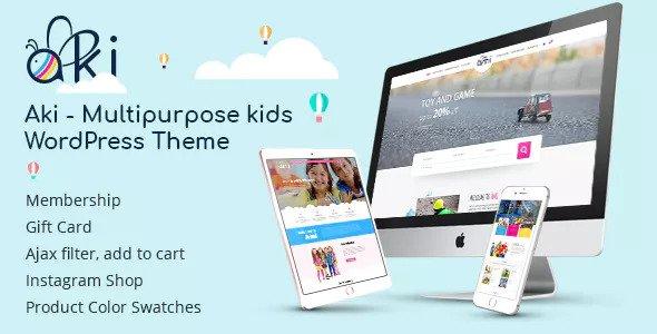 Aki v1.2.7 — Multipurpose Kids WordPress Theme