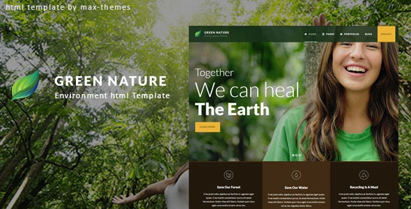 Green Nature v1.0 — Environmental HTML Template