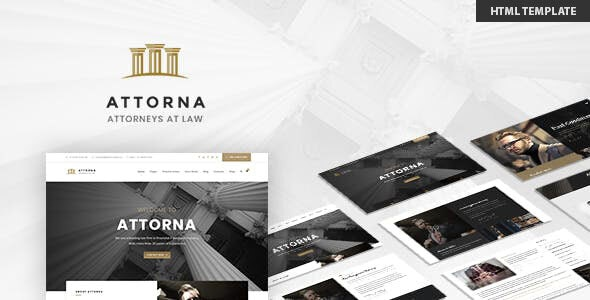 Attorna — Lawyer & Attorney HTML Template