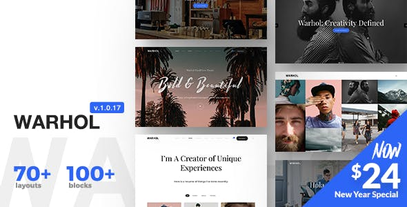 Warhol v1.0.18 — Responsive Multipurpose Theme for Creatives