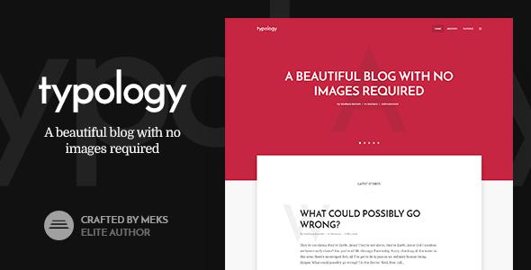 Typology v1.6 — Text Based Minimal WordPress Blog Theme