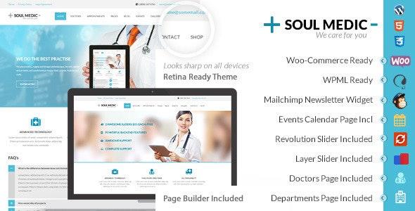 SoulMedic Health v3.2 — Medical & Health Care Theme