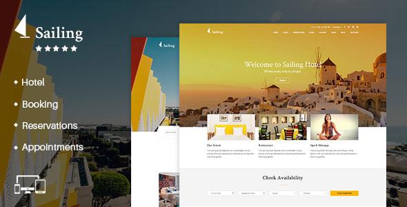 Sailing v4.0 — Hotel WordPress Theme