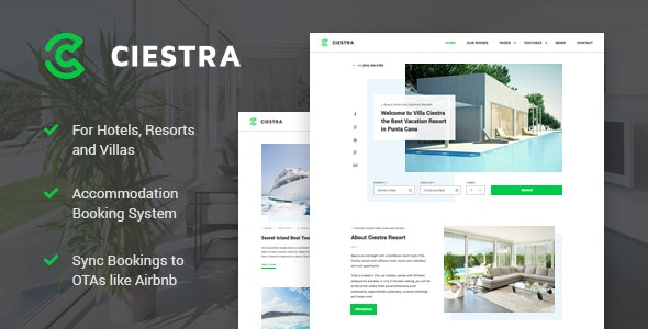 Ciestra v1.2.2 — Resort WordPress Theme