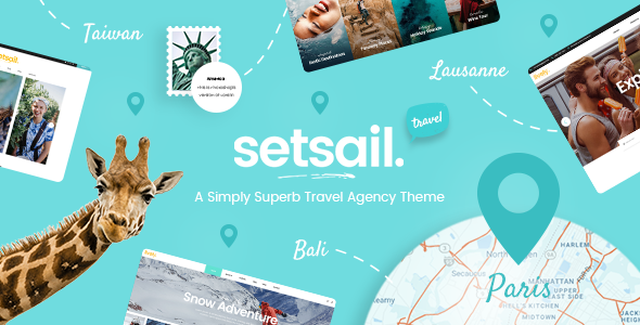 SetSail v1.3.2 — Travel Agency Theme