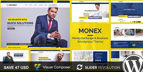 Monex v1.6 — Money Exchange & Finance Business WordPress Theme