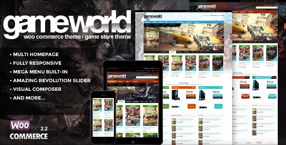 GameWorld v2.1 — WooCommerce Game Theme