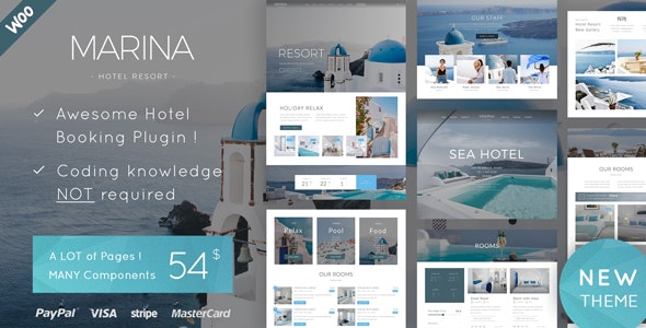 Marina v1.0 — Hotel & Resort WordPress Theme